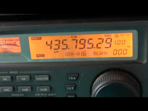 HO-68 Amateur radio satellite beacon october 5th 2012