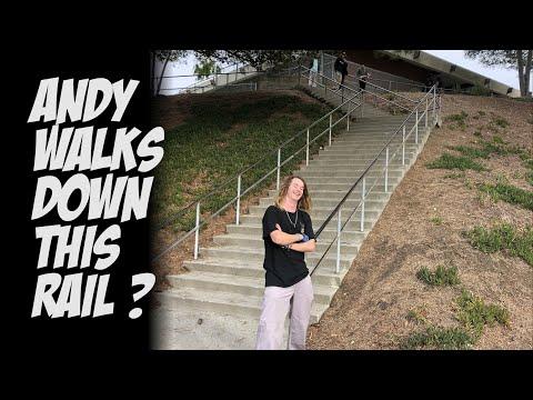 ANDY ANDERSON WALKS DOWN CRAZY RAIL & TONS OF SKATEBOARDING !!!   NKA VIDS