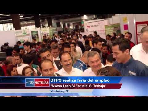 """Monterrey.- STPS Realizan Feria del Empleo  """"Nuevo León Sí Estudia, Sí Trabaja""""."""
