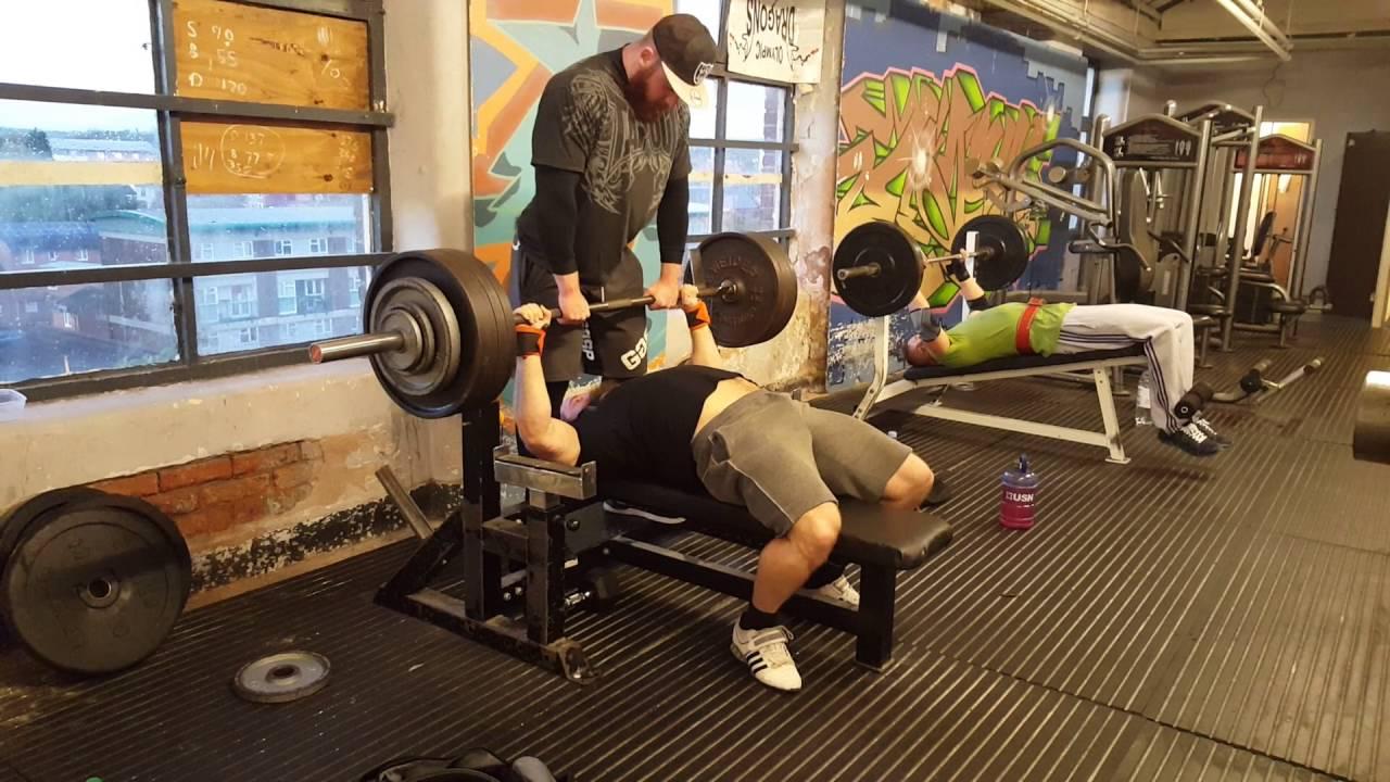 207.5kg / 457lb raw bench press PB!