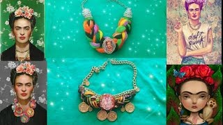 D.I.Y. Collares De Frida Kahlo facil.