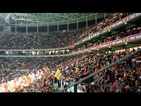 Elmander golü sonrası tribün şov galatasaray 3 1 fb tt arena hd