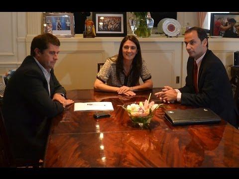 Cecilia Rodríguez recibió al ministro de Seguridad de San Luis