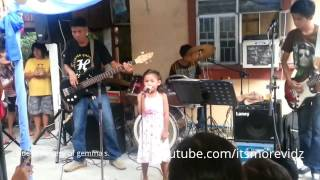 LYCA of the voice kids performing song for a birthday party