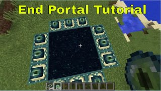 How to Make a End Portal in Minecraft (WORKING IN 2017)