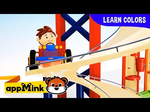 appMink Toddler Learn color with wooden Toy Vehicles   shape learning for kids ESL video