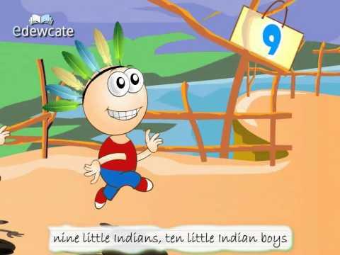 Edewcate english rhymes – Ten Little Indians Nursery Rhyme