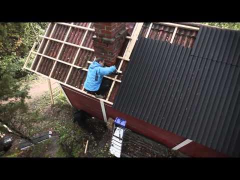 Поменять шифер на крыше своими руками