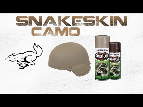 How To Spray Paint Helmet Snakeskin Camo