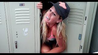 She Got STUCK In A Locker!! **SCARY**