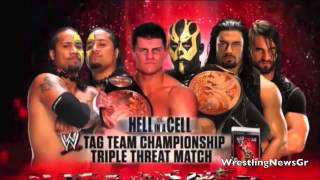WWE Hell In A Cell 2013 Match Card [HQ]