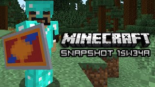 Minecraft: New PVP, Shields, Potions, and More! (Snapshot 15w34a)