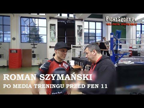 Roman Szymański po media treningu przed FEN 11 Warsaw Time