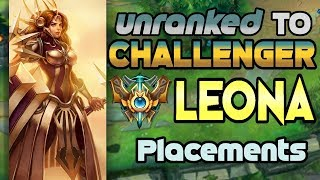 Unranked to Challenger Support Leona Placements