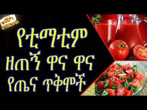 ETHIOPIA - 9 Reasons Eat More Tomatoes in Amharic