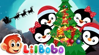 Jingle Bells | Little BoBo - Nursery Rhymes | FlickBox Kids Songs | Penguin Cartoon