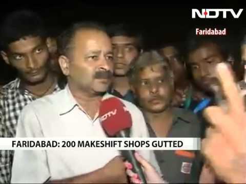 Massive fire in Faridabad cracker market, over 200 shops destroyed