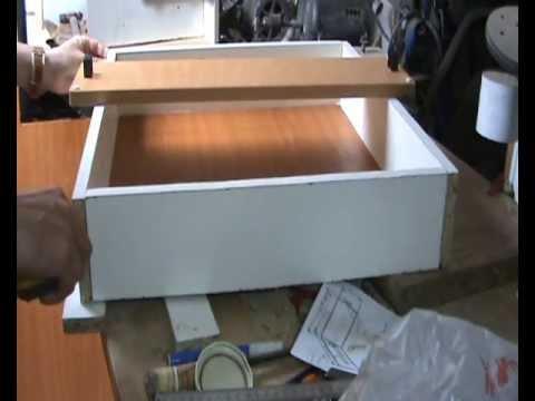 Caj n a medida para mueble de cocina con frentes for Como hacer un plano de una cocina