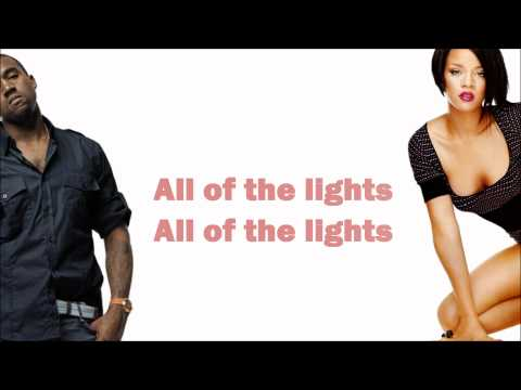 Kanye West - All Of The Lights (ft. Rihanna, Kid Cudi, Elton John, Fergie & Alicia Keys) Lyrics video