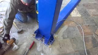 TP9KAF 9,000lb Auto Lift with Floorplate Design. Installation overview 13