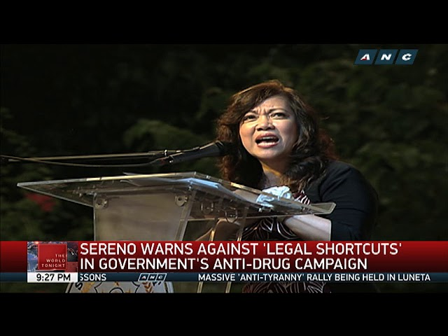 Chief Justice Sereno pays tribute to Jose Diokno