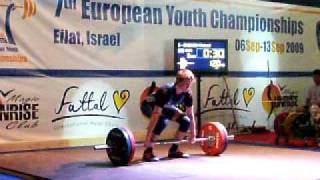 EUROPEAN YOUTH WEIGHTLIFTING CHAMPIONSHIPS 2009 - 77 kg class (various lifts)