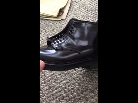 Alden for J. Crew Shell Cordovan Indy Boot unboxing