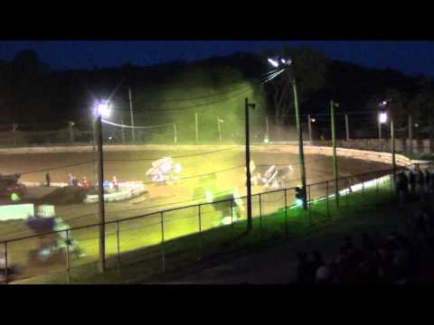 Susquehanna Speedway Park 410 Sprint Car Highlights 5-12-13