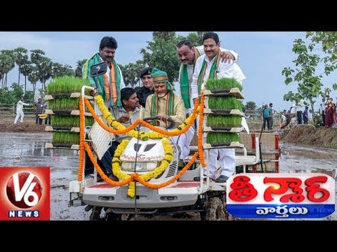 AP CM Chandrababu Drives Tractor In Eruvaka Program Launching Event | Teenmaar News