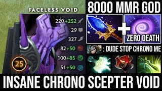 Crazy 8000 MMR Void Cancer Attack Speed Non-Stop Chrono with Scepter 100% Deleted Slark - DotA 2