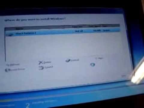DELL 910 install SSD KIngSpec 64G Mini PCIE PATA Fail boot 1) Tried without a bootable USB drive 2) Bootable USB drive windows 7 SSD drive shows 0mb space. P...