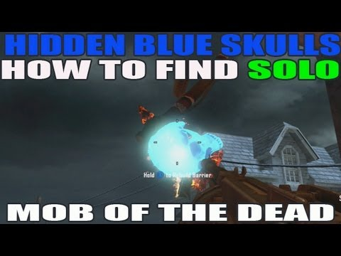 Hidden Blue Skull Easter Egg Locations Solo Mob Of The Dead (HD)