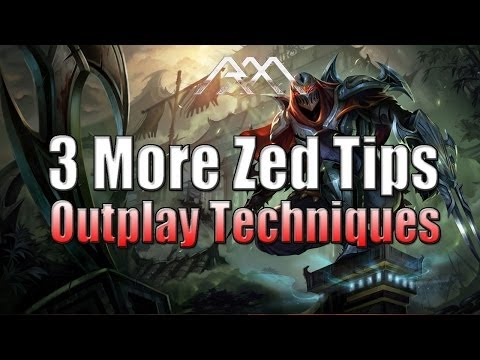 3 More Zed Tips - Outplaying Techniques - League of Legends