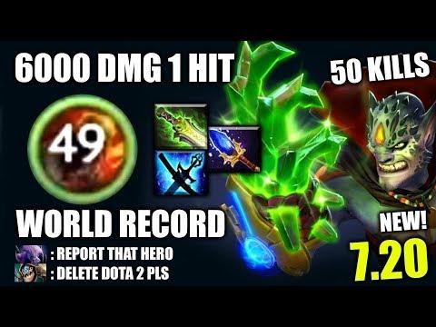 OMG WORLD RECORD! 6000 Dmg 1 Hit 50 Kills Lion Craziest META The MOST IMBA 7.20 Dota 2