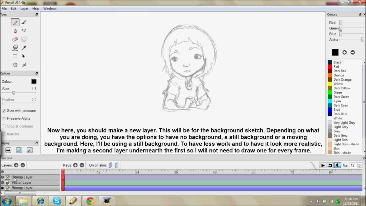 Free animation program pencil plus a lame walk through Free 2d software