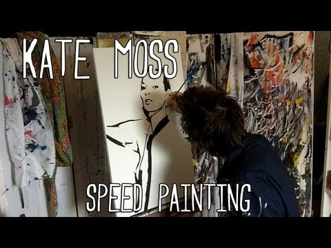 KATE MOSS Nude With ICE CREAM - Speed Art PAINTING - Stephen Quick