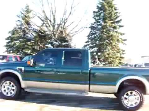 15581 2008 Ford F350 Crew Long King Ranch Diesel 4wd Navigation Www Lenzauto Com Fond Du Lac