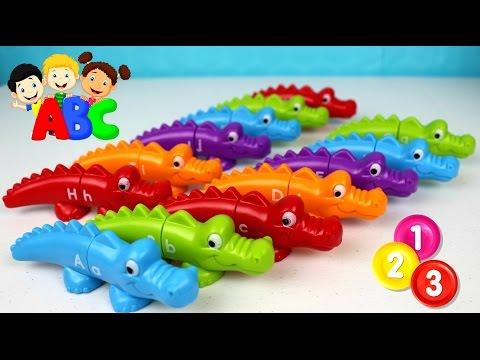 Aprende el Alfabeto con Lagartos de colores | Snap & Learn Alphabet Alligators