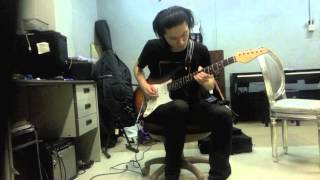 X Japan--Endless Rain guitar solo cover by秋笙