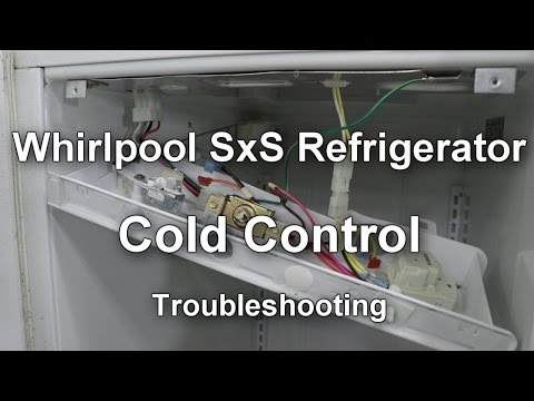 Whirlpool Side by Side Refrigerator Cold Control Thermostat Troubleshooting