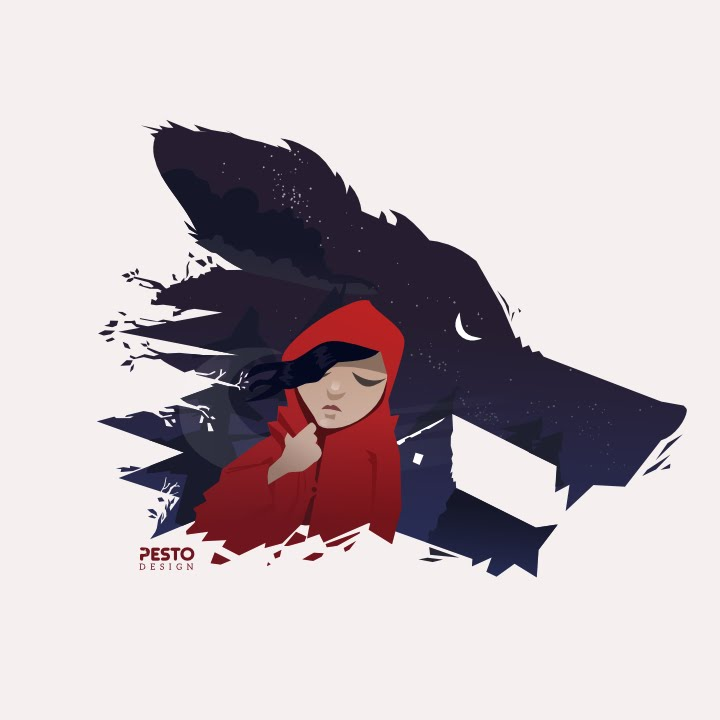 Little Red Riding Hood Tattoo Designs