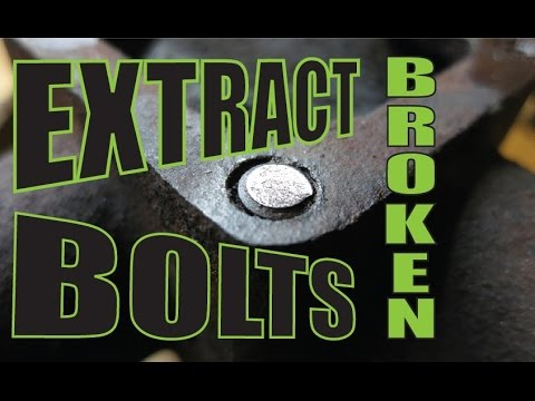 Extracting broken bolts with a welder