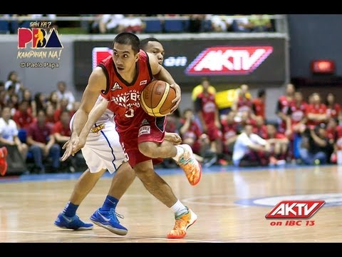 PBA Brgy Ginebra San Miguel vs Meralco Bolts 24 August 2013 3rd Quarter