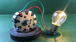 Home Invention 100% Free Energy Generator Without Battery Using DC Motor With Magnets