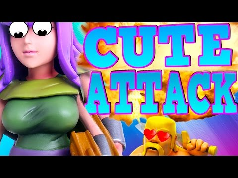 """CLASH OF CLANS - HOLY CRAP ARCHER QUEEN!WOW! """"FUNNY MOMENTS + TOWN HALL 10 TROOPS"""" (MUST WATCH)"""