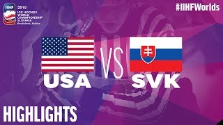 USA vs. Slovakia | Highlights | 2019 IIHF Ice Hockey World Championship