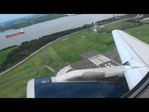 Elegant Evening Departure!!!  Beautiful HD Airbus A319 Takeoff From Philadelphia!!!