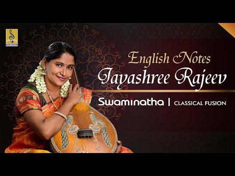 English Notes Carnatic Classical Fusion by Jayashree Rajeev
