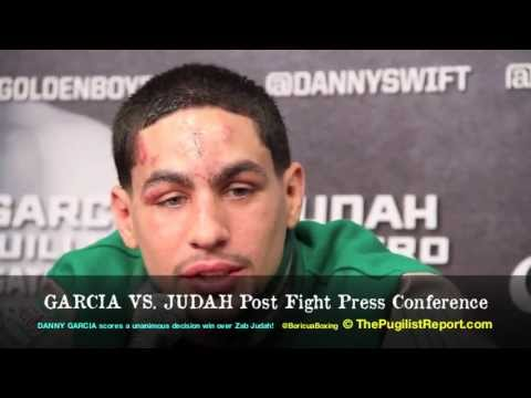 DANNY GARCIA vs. Zab Judah Post Fight Press Conference! (Danny only) BoricuaBoxing.com