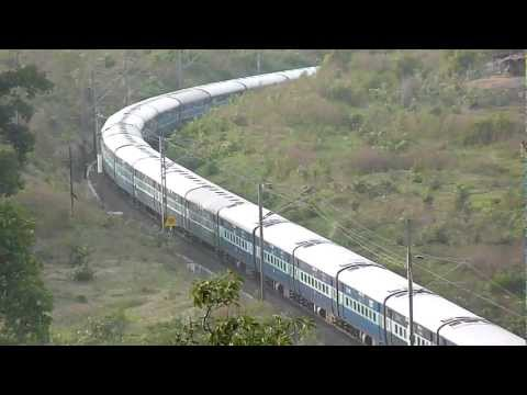 Breathtaking View Of Andhra Pradesh Express Speeding With A Wap-7! video